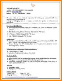 best resume for 3 best resume format for experienced dialysis