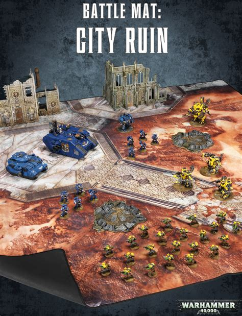 warhammer battle mat warhammer 40 000 battle mat city ruins at mighty ape