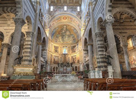 Interno Duomo Di Pisa by Interno Della Cattedrale Di Pisa Italia Fotografia Stock