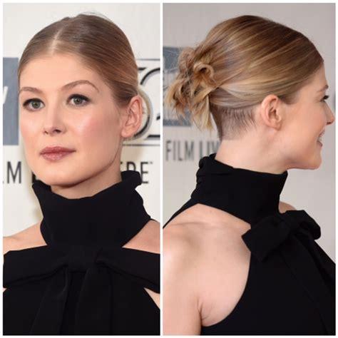 secret multi ponytail trick  rosamund pikes updo