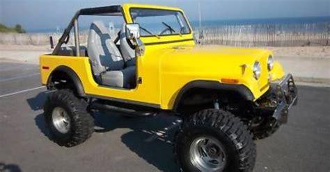 cj jeep yellow yellow 1978 cj7 with fiberglass body cj 7 jeep