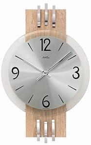 Horloge Murale Moderne : horloge murale moderne quartz en aluminium et bois de sonoma ~ Teatrodelosmanantiales.com Idées de Décoration