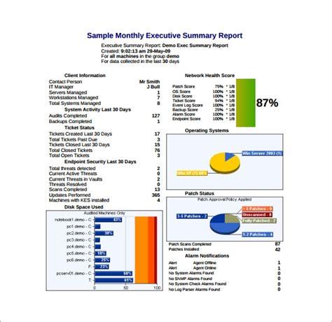 executive report template 9 free word pdf documents free premium templates