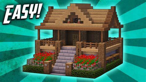 minecraft   build  survival starter house tutorial  youtube