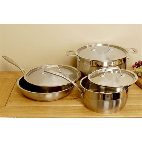shop laurel creek premium copper clad cookware set  piece  shipping today overstock