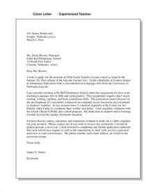 Teacher Cover Letter Examples