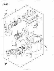 Suzuki Atv 2005 Oem Parts Diagram For Air Cleaner