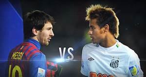 Leo Messi vs Neymar - Barcelona vs Santos - HD - YouTube