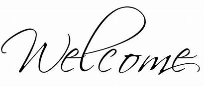 Welcome Calligraphy Fonts Transparent Spring Vinyl Sign