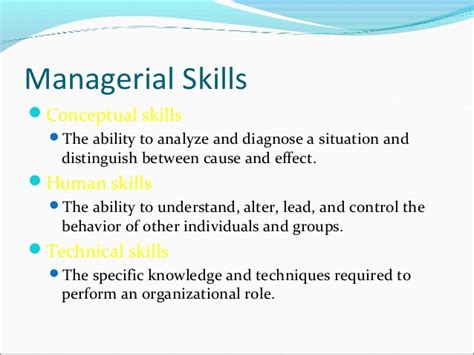 ppt on managerial skills