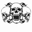 Three Headed Skull Biker T-Shirt by CDLdesigns on DeviantArt