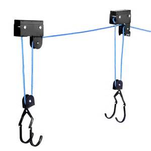 oz mall kayak hoist bike lift pulley system garage ceiling storage rack capacity 60kg