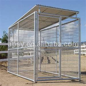 wholesale large outdoor dog cages welded wire dog kennel With outdoor wire dog kennel