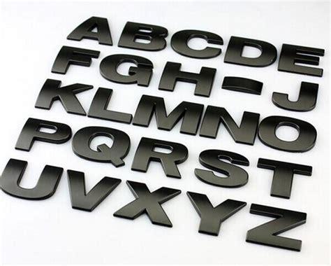 Buy Top Quality Car Styling 3d Metal Letters Emblem Digital Figure Number