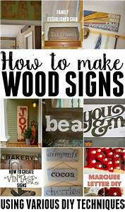 how to make wooden signs using various techniques With letters to make signs
