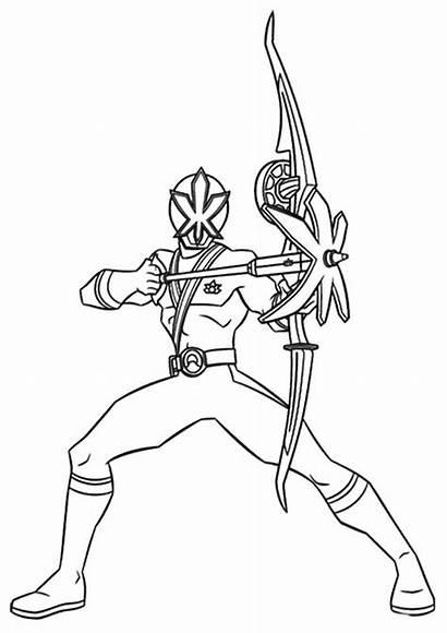 Rangers Power Coloring Pages Megaforce Ranger Samurai