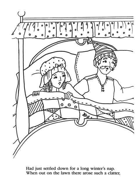 twas  night  christmas printable coloring pages
