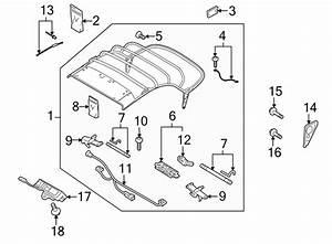 2011 Audi Convertible Top Wiring Harness  Convertible
