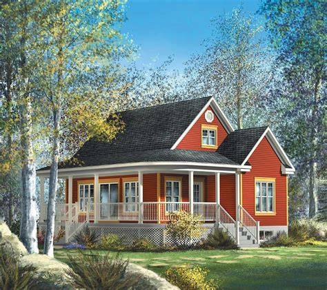 Cute Country Cottage  80559pm  Architectural Designs