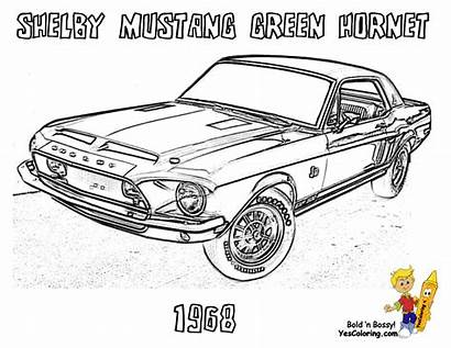 Coloring Mustang Muscle Shelby Pages Hornet Yescoloring
