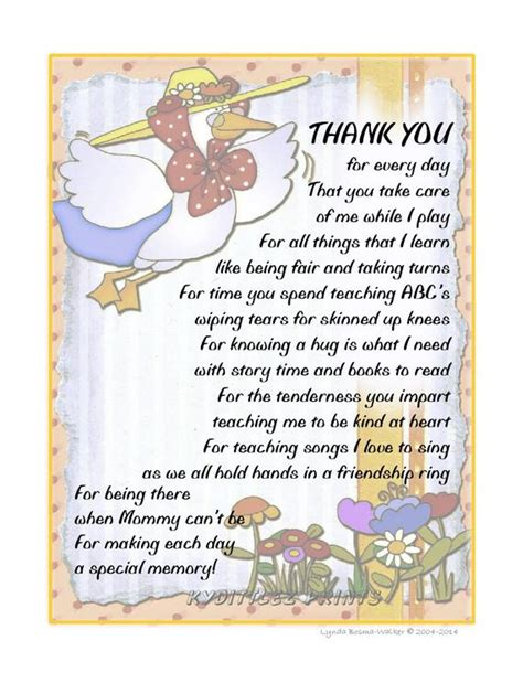 wall child s thank you poem gift to their by 705 | il 570xN.730136835 d5y7