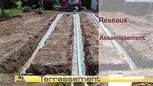 Comment Faire Un Drainage : terrassement assainissement reseaux fosse septique youtube ~ Farleysfitness.com Idées de Décoration