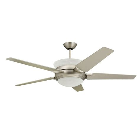outdoor ceiling fans with uplights troposair 56 in satin steel up light ceiling fan