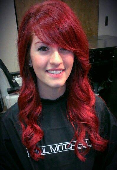 vibrant red hair color  kayla brengman bloom salon