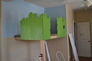 remodelaholic build an indoor tree house with slide and With kitchen cabinets lowes with rock climbing wall art