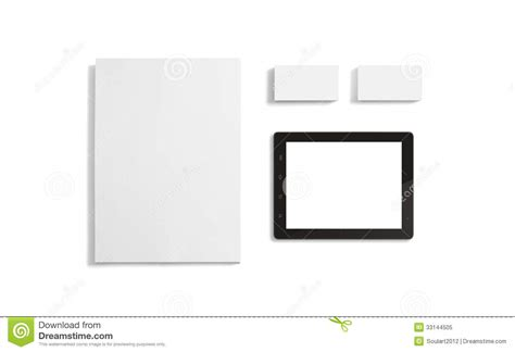 blank stationery corporate id template stock image image
