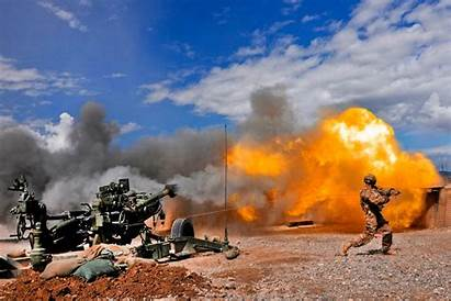 Army Cannon Artillery Howitzer Blast Marines Fire