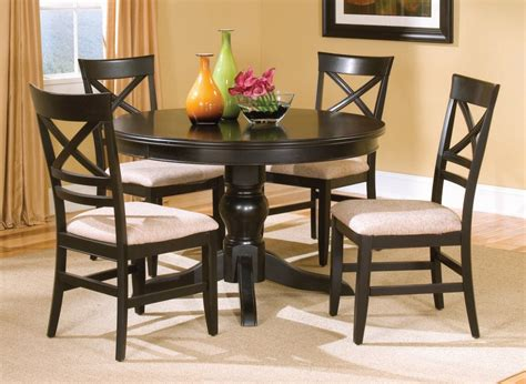 round table dinette sets casual dinette design with round espresso bistro tables