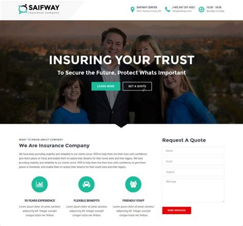 Insurance website builder's websites are designed to increase sales and improve retention. 26+ Insurance Website Themes & Templates   Free & Premium Templates