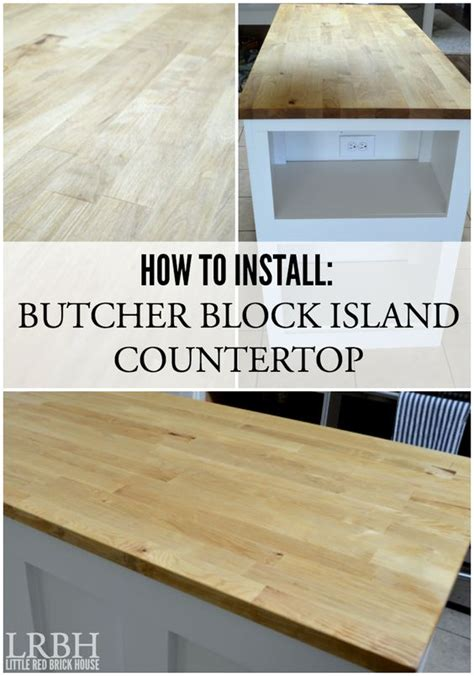 Butcher Block Island Countertop  {kitchen Makeover