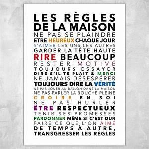 Affiche Les Regles De La Maison : les r gles de la maison affiche 50x70 cm reconnaissance pinterest ~ Melissatoandfro.com Idées de Décoration