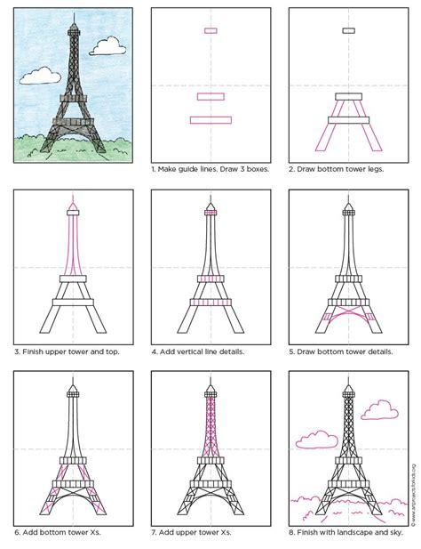 draw  eiffel tower apfk tutorials eiffel