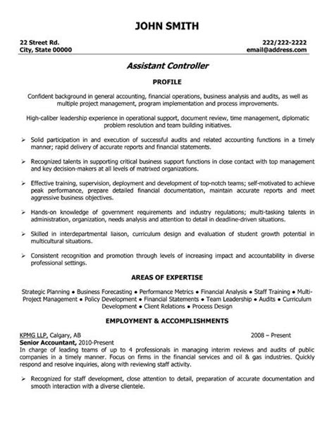 assistant controller resume exle http topresume