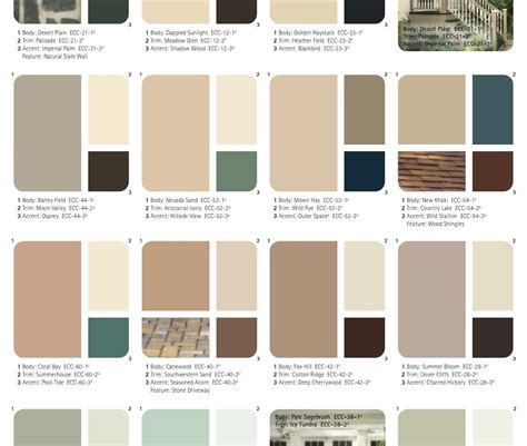 paint color combinations peaceably fresh paintinghouse