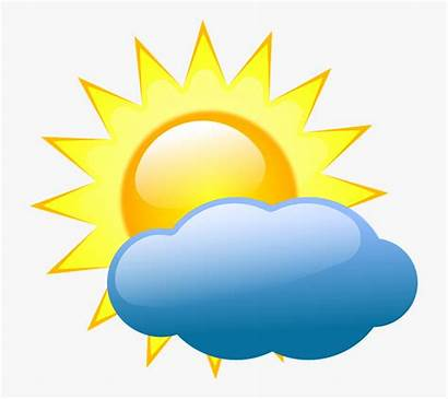 Weather Symbols Cloudy Partly Clipart Forecast Vector