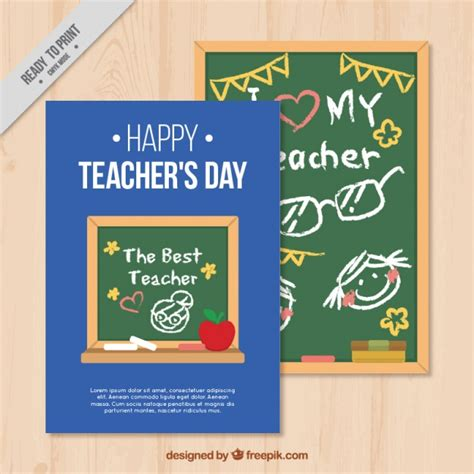 happy teachers day card template  vector