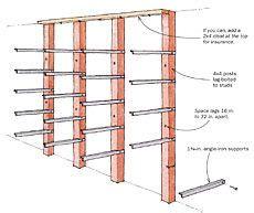 vertical lumber storage rack plans google search