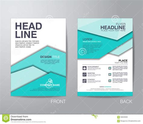 Brochure Templates Size Corporate Brochure Flyer Design Layout Template In A4 Size