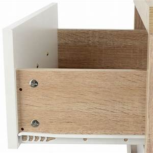 2 drawer oak effect white wood bedside cabinet modern for What kind of paint to use on kitchen cabinets for wall art man climbing rope