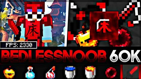 Bedless Noobs 60k 16x Mcpe Pvp Texture Pack Youtube