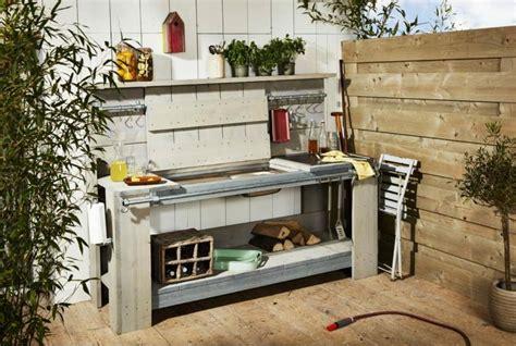 cuisine sur plancha barbecue moderne et id 233 es de cuisine ext 233 rieure pour l 233 t 233