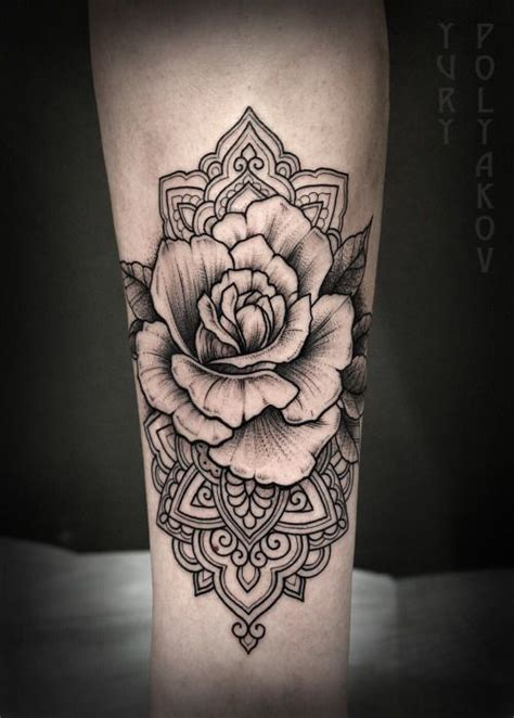 ideas  mandala tattoo  pinterest lotus