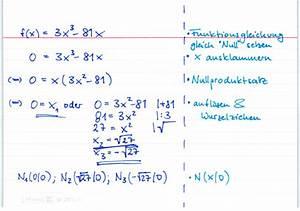 Nullstellen Berechnen Ausklammern : nullstellenbestimmung durch ausklammern und wurzelziehen bei lernwerk tv ~ Themetempest.com Abrechnung