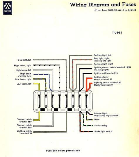 1982 Volkswagen Rabbit Fuse Box Diagram by Thesamba Type 2 Wiring Diagrams