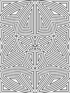 Complex Geometric Coloring Pages - Geometric Coloring ...