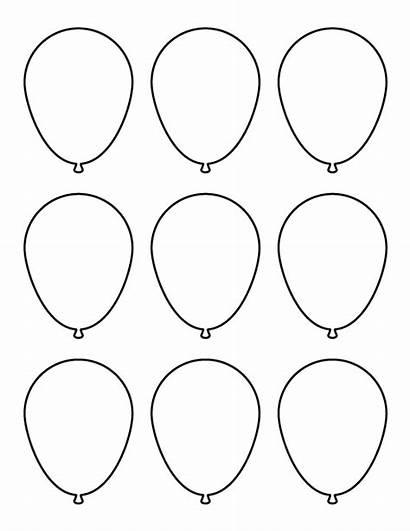 Balloon Printable Template Cutouts Stencils Pattern Templates